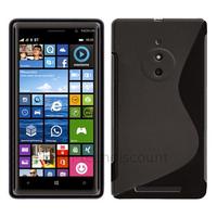 Housse etui coque pochette silicone gel fine pour Nokia Lumia 830 + film ecran - NOIR