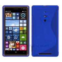 Housse etui coque pochette silicone gel fine pour Nokia Lumia 830 + film ecran - BLEU