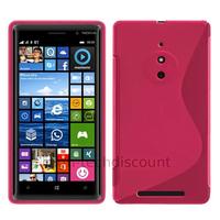 Housse etui coque pochette silicone gel fine pour Nokia Lumia 830 + film ecran - ROSE