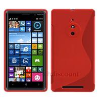 Housse etui coque pochette silicone gel fine pour Nokia Lumia 830 + film ecran - ROUGE
