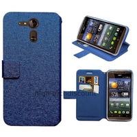 Housse etui coque pochette portefeuille pour Acer Liquid E700 + film ecran - BLEU