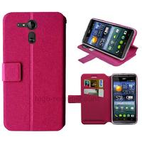 Housse etui coque pochette portefeuille pour Acer Liquid E700 + film ecran - ROSE