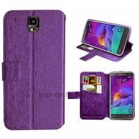 Housse etui coque pochette portefeuille pour Samsung G910F Galaxy Note 4 + film ecran - MAUVE