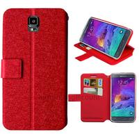 Housse etui coque pochette portefeuille pour Samsung G910F Galaxy Note 4 + film ecran - ROUGE