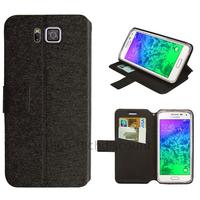 Housse etui coque pochette portefeuille pour Samsung Galaxy Alpha G850F + film ecran - NOIR V2