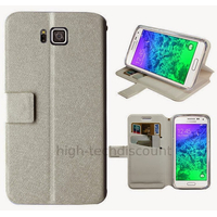 Housse etui coque pochette portefeuille pour Samsung Galaxy Alpha G850F + film ecran - BLANC V2