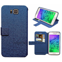 Housse etui coque pochette portefeuille pour Samsung Galaxy Alpha G850F + film ecran - BLEU V2
