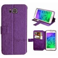 Housse etui coque pochette portefeuille pour Samsung Galaxy Alpha G850F + film ecran - MAUVE V2