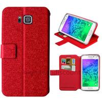 Housse etui coque pochette portefeuille pour Samsung Galaxy Alpha G850F + film ecran - ROUGE V2