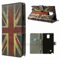 Housse etui coque pochette portefeuille PU cuir pour Samsung G910F Galaxy Note 4 + film ecran - UK