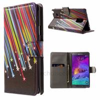 Housse etui coque pochette portefeuille PU cuir pour Samsung G910F Galaxy Note 4 + film ecran - ETOILES