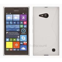 Housse etui coque pochette silicone gel fine pour Nokia Lumia 730 735 + film ecran - BLANC