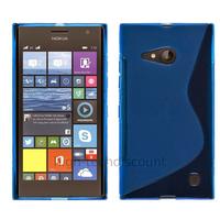Housse etui coque pochette silicone gel fine pour Nokia Lumia 730 735 + film ecran - BLEU