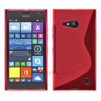 Housse etui coque pochette silicone gel fine pour Nokia Lumia 730 735 + film ecran - ROSE