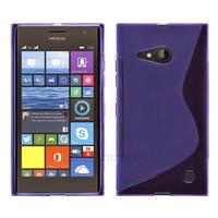 Housse etui coque pochette silicone gel fine pour Nokia Lumia 730 735 + film ecran - MAUVE