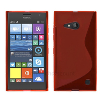 Housse etui coque pochette silicone gel fine pour Nokia Lumia 730 735 + film ecran - ROUGE
