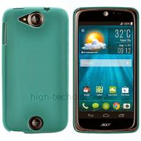 Housse etui coque pochette silicone gel fine pour Acer Liquid Jade S + film ecran - BLEU
