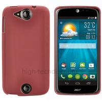 Housse etui coque pochette silicone gel fine pour Acer Liquid Jade S + film ecran - ROSE
