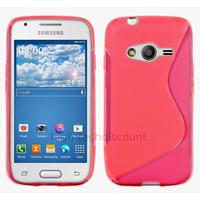 Housse etui coque silicone gel fine pour Samsung G357 Galaxy Ace 4 4G + film ecran - ROSE