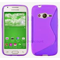 Housse etui coque silicone gel fine pour Samsung G357 Galaxy Ace 4 4G + film ecran - MAUVE