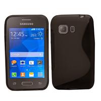 Housse etui coque silicone gel fine pour Samsung G130 Galaxy Young 2 + film ecran - NOIR