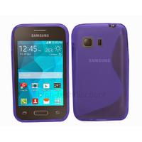 Housse etui coque silicone gel fine pour Samsung G130 Galaxy Young 2 + film ecran - BLEU
