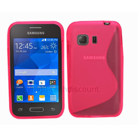 Housse etui coque silicone gel fine pour Samsung G130 Galaxy Young 2 + film ecran - ROSE