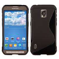 Housse etui coque silicone gel fine pour Samsung G870 Galaxy S5 Active + film ecran - NOIR