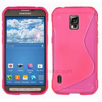 Housse etui coque silicone gel fine pour Samsung G870 Galaxy S5 Active + film ecran - ROSE