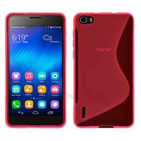 Housse etui coque pochette silicone gel fine pour Huawei Honor 6 + film ecran - ROSE