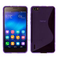 Housse etui coque pochette silicone gel fine pour Huawei Honor 6 + film ecran - MAUVE