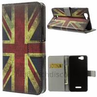 Housse etui coque pochette portefeuille PU cuir pour Wiko Rainbow 4G + film ecran - UK
