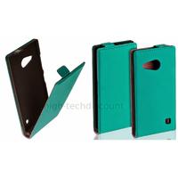 Housse etui coque pochette PU cuir fine pour Nokia Lumia 730 735 + film ecran - BLEU