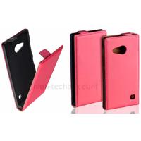 Housse etui coque pochette PU cuir fine pour Nokia Lumia 730 735 + film ecran - ROSE