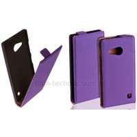 Housse etui coque pochette PU cuir fine pour Nokia Lumia 730 735 + film ecran - MAUVE