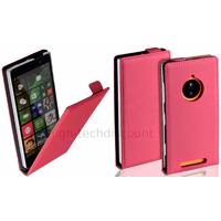 Housse etui coque pochette PU cuir fine pour Nokia Lumia 830 + film ecran - ROSE