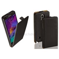 Housse etui coque pochette PU cuir fine pour Samsung G910F Galaxy Note 4 + film ecran - NOIR