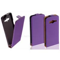 Housse etui coque pochette PU cuir fine pour Samsung G530H Galaxy Grand Prime + film ecran - MAUVE