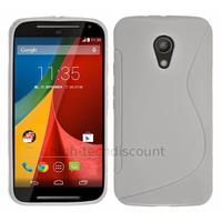 Housse etui coque silicone gel fine pour Motorola Moto G 2me generation 2014 + film ecran - BLANC