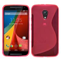 Housse etui coque silicone gel fine pour Motorola Moto G 2eme generation 2014 + film ecran - ROSE