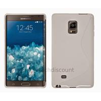 Housse etui coque pochette silicone gel fine pour N915 Galaxy Note Edge + film ecran - BLANC