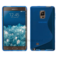 Housse etui coque pochette silicone gel fine pour N915 Galaxy Note Edge + film ecran - BLEU