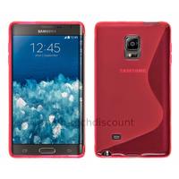Housse etui coque pochette silicone gel fine pour N915 Galaxy Note Edge + film ecran - ROSE