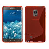 Housse etui coque pochette silicone gel fine pour N915 Galaxy Note Edge + film ecran - ROUGE