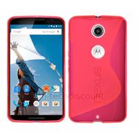 Housse etui coque pochette silicone gel fine pour Google Motorola Nexus 6 + film ecran - ROSE