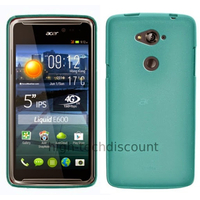 Housse etui coque pochette silicone gel fine pour Acer Liquid E600 + film ecran - BLEU