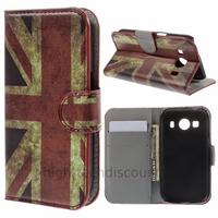 Housse etui coque pochette portefeuille PU cuir pour Samsung G357 Galaxy Ace 4 4G + film ecran - UK