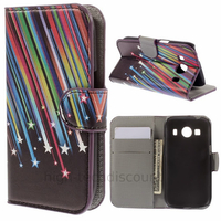 Housse etui coque pochette portefeuille PU cuir pour Samsung G357 Galaxy Ace 4 4G + film ecran - ETOILES