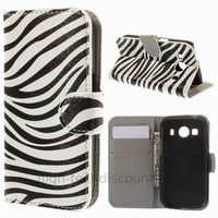 Housse etui coque pochette portefeuille PU cuir pour Samsung G357 Galaxy Ace 4 4G + film ecran - ZEBRE