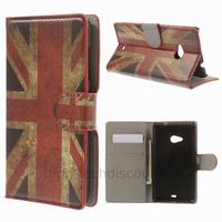 Housse etui coque pochette portefeuille PU cuir pour Microsoft Nokia Lumia 535 + film ecran - UK